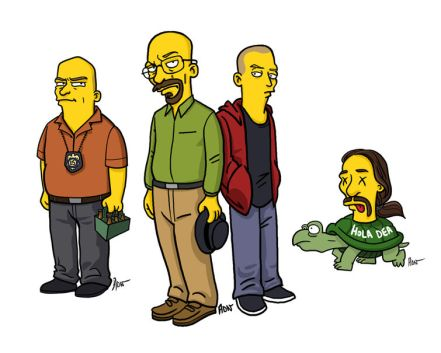 breaking bad simpsons